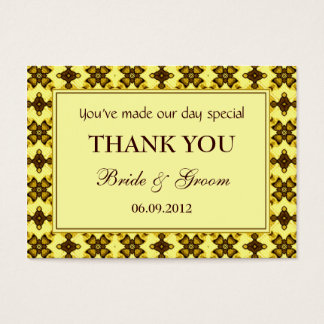 Cream & Brown Personalized Wedding Favor Gift Tags