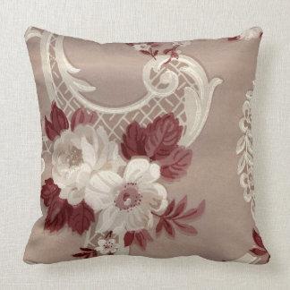 Burgundy Print Throw Pillows : Cream And Burgundy Pillows - Decorative & Throw Pillows Zazzle
