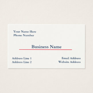 Cream Business Card Template