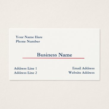 Professional Business Cream Business Card Template