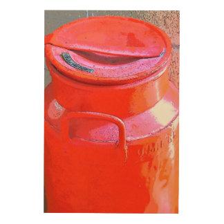 CREAM CAN PAINTED RED RURAL AUSTRALIA ART CANVAS