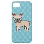 Cream Cartoon French Bulldog iPhone 5 Covers