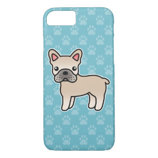Cream Cartoon French Bulldog iPhone 8/7 Case