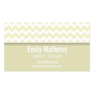 Cream Chevron; Personalized Business Cards
