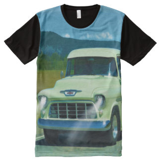 Cream Chevy Classic Truck for Car-lovers All-Over Print Shirt