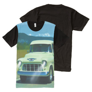 Cream Chevy Classic Truck for Car-lovers All-Over Print T-shirt
