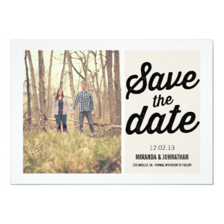 Cream Chic Photo Save The Date Announcements