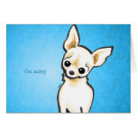 Cream Chihuahua Head Tilt Custom Message Greeting Cards