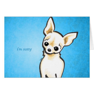 Cream Chihuahua Head Tilt Custom Message Card
