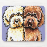 Cream Chocolate Labradoodles Mouse Pads