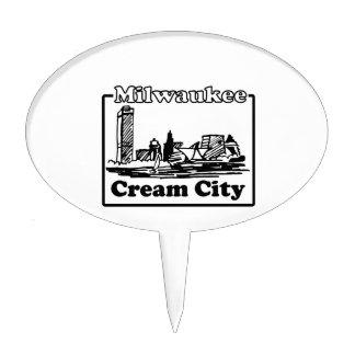 Cream City Cake Topper
