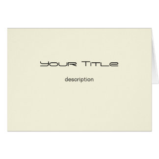 Cream Color/Basic Paper Greeting Card
