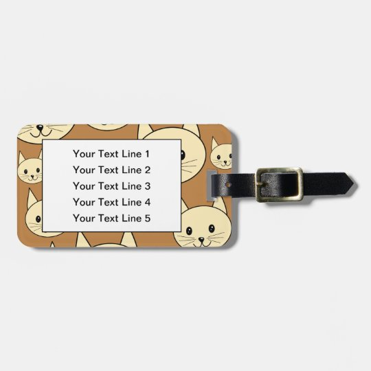 Cream Color Cats. Luggage Tag