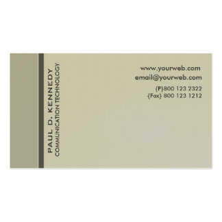 Cream Color Modernist Contemporary Minimalist Business Card