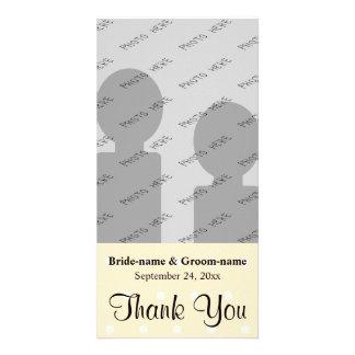 Cream Color Polka Dot Wedding Thank You Card