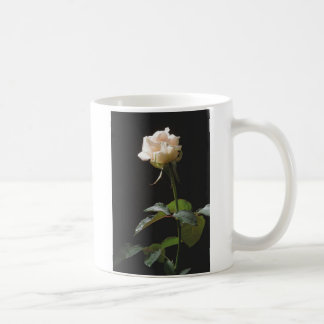 Cream-color rose on the dark background coffee mug