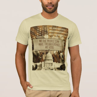 Cream color T shirt, stating the right to vote T-Shirt