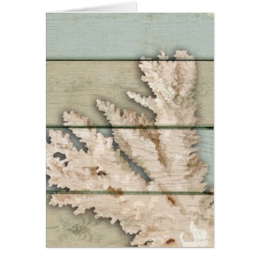 Beach Themed Cream Colored Coral Card