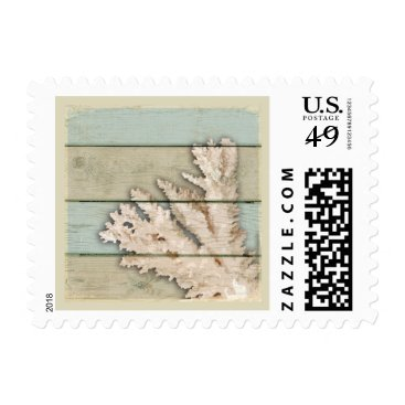 Beach Themed Cream Colored Coral Postage