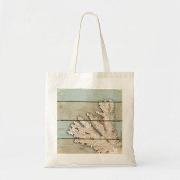 Beach Themed Cream Colored Coral Tote Bag
