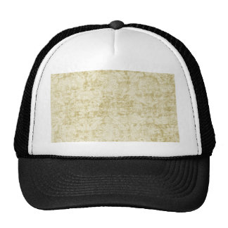 Cream Colored Damask floral Wallpaper Pattern Hat
