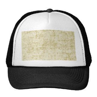 Cream Colored Damask floral Wallpaper Pattern Trucker Hat