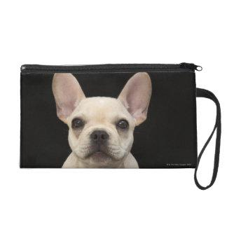 Cream colored French Bulldog puppy Wristlet Clutch