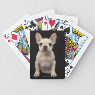 Cream colored French Bulldog puppy Bicycle Playing Cards