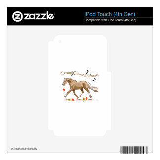 Cream Colored Ponies iPod Touch 4G Skin