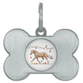 Cream Colored Ponies Pet ID Tag