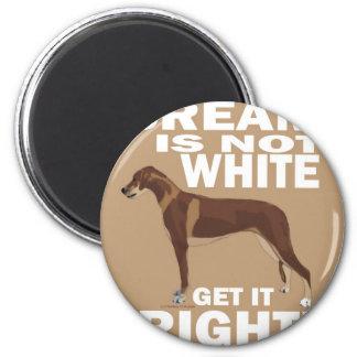 Cream copy 2 inch round magnet