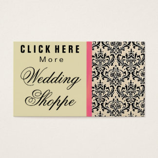 Cream Damask ~ Business Cards