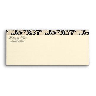 Cream Damask ~ Business Envelope