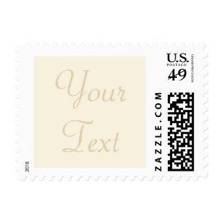 Cream & Ecru Custom Wedding Postage Stamp w/ Text Stamp