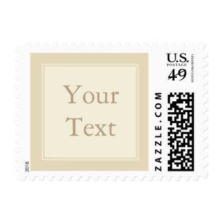Cream & Ecru Postage Stamp w/ Custom Text Stamps