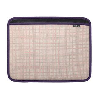 Cream Faux canvas checkers Macbook Air Sleeve