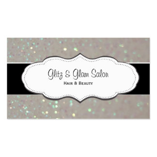 Cream Faux Glitter Business Cards