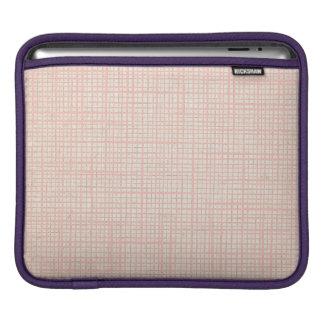 Cream Faux Linen canvas burlap checker iPad Sleeve