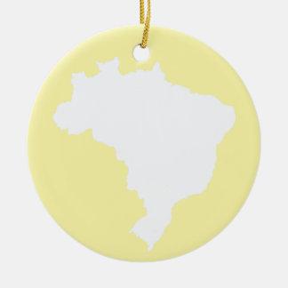 Cream Festive Brazil at Emporio Moffa Ceramic Ornament