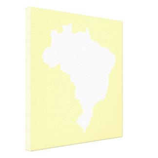 Cream Festive Brazil at Emporiomoffa Canvas Print