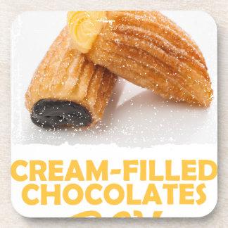Cream-Filled Chocolates Day  - Appreciation Day Beverage Coaster