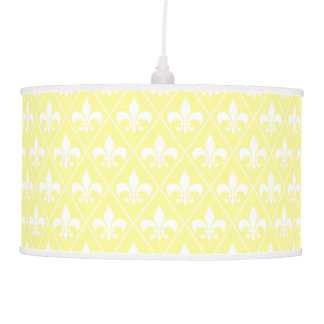 Cream Fleur de Lis Ceiling Lamp