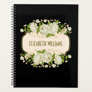 "Cream Floral Planner. Mother""s Day Gift Planner"