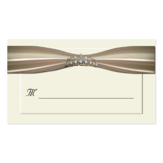 Cream Formal Place Cards Double-Sided Standard Business Cards (Pack Of 100)