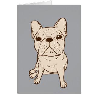 Cream French Bulldog Card