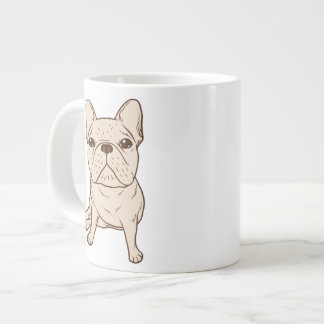 Cream French Bulldog Large Coffee Mug