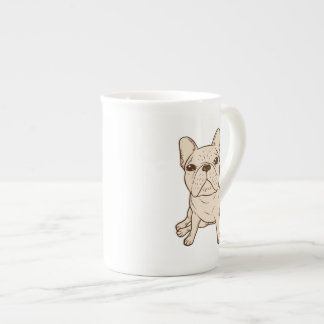 Cream French Bulldog Tea Cup