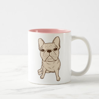 Cream French Bulldog Two-Tone Coffee Mug