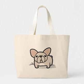 Cream Frenchie Jumbo Tote Bag