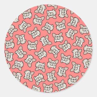 Cream Frenchie Classic Round Sticker